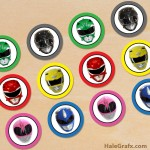 FREE Printable Power Rangers Cupcake Toppers