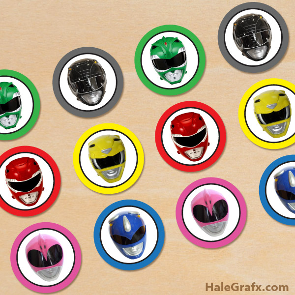 picture about Rangers Printable Schedule named Cost-free Printable Electric power Rangers Cupcake Toppers