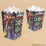 FREE Printable Mighty Morphin Power Rangers Popcorn Box