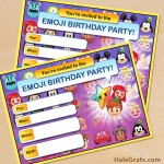 FREE Printable Disney Emoji Blitz Party Invitation