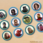 FREE Printable Avengers Cupcake Toppers