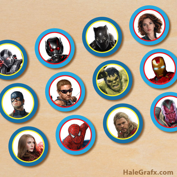 photo regarding Free Printable Cupcake Wrappers and Toppers With Spiderman referred to as Cost-free Printable Avengers Cupcake Toppers