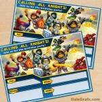 FREE Printable LEGO Nexo Knights Party Invitation