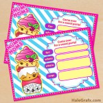 FREE Printable Num Noms Party Invitation