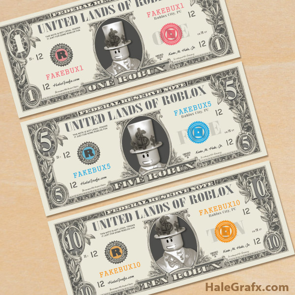 image relating to Fake Money Printables identified as No cost Printable Roblox Participate in Cash