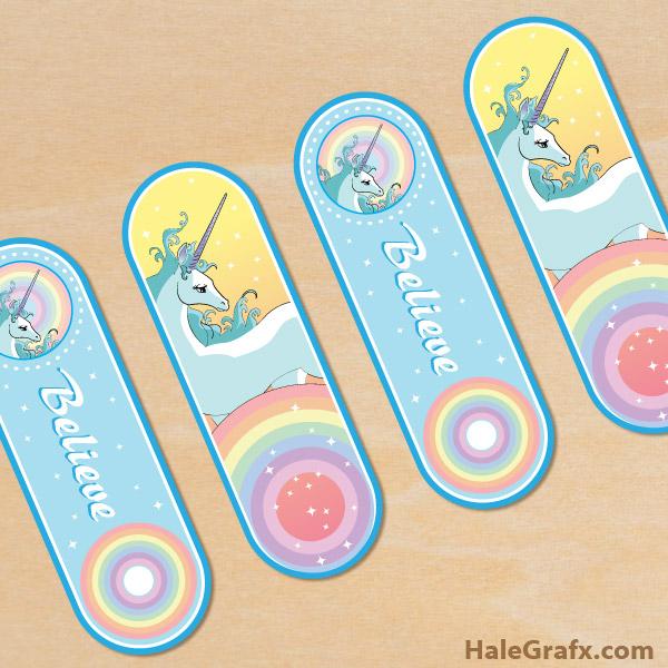 FREE Printable Unicorn Bookmarks