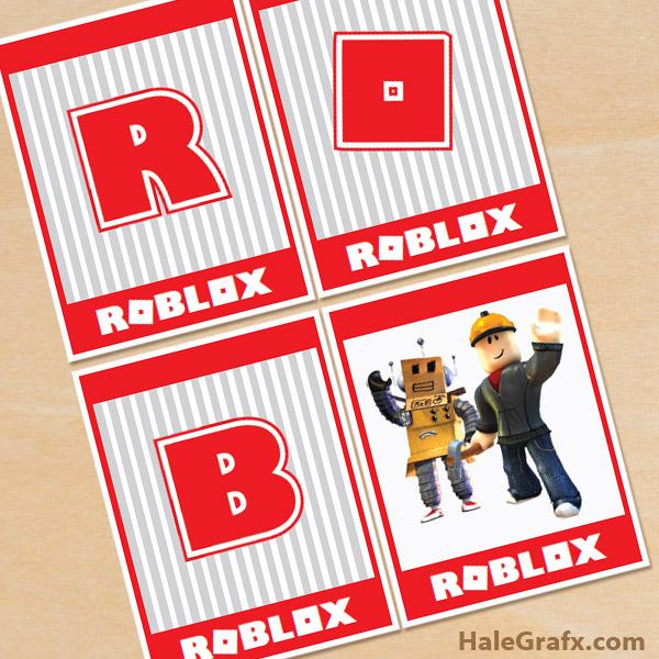 FREE Printable Roblox Alphabet Banner Pack