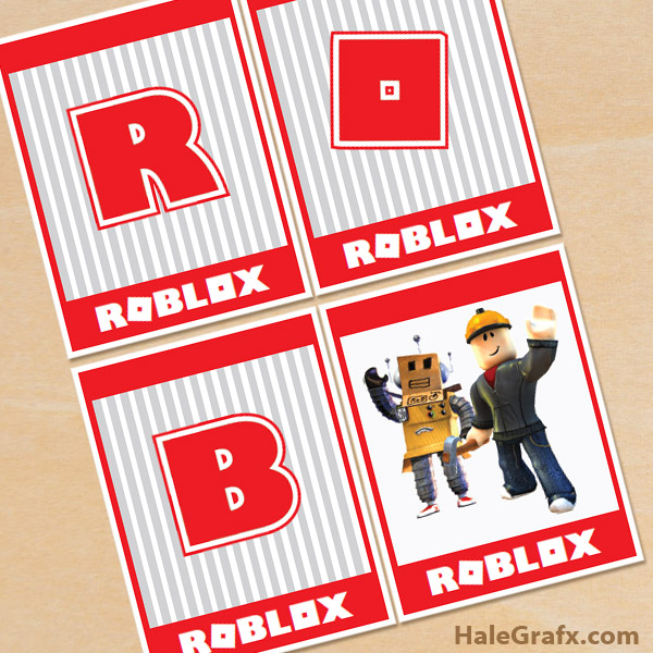 FREE Printable Roblox Alphabet Banner Pack