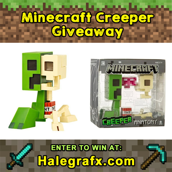Minecraft Creeper Anatomy Figure Giveaway