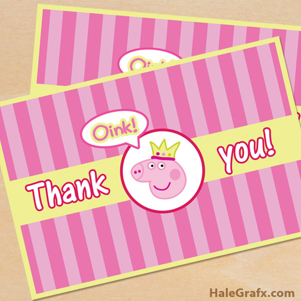 image about Peppa Pig Character Free Printable Images called Absolutely free Printable Peppa Pig Thank Oneself Card