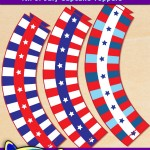 FREE Printable 4th of July Cupcake Wrappers