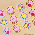 FREE Printable Kirby Cupcake Toppers
