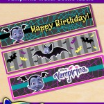 Free Printable Disney Vampirina Water Bottle Labels