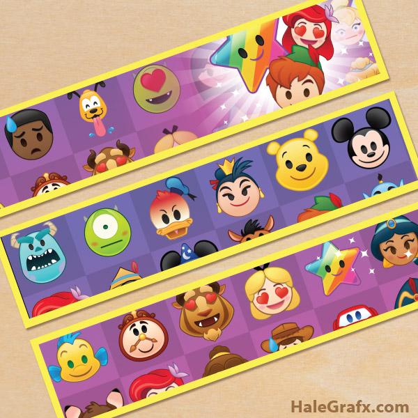 Free Printable Disney Emoji Blitz Water Bottle Labels
