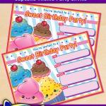 FREE Printable Cupcake Theme Birthday Invitation