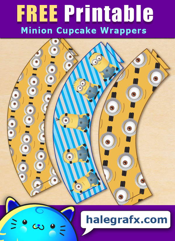 FREE Printable Despicable Me Minions Cupcake Wrappers