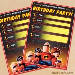 FREE Printable Incredibles Party Invitation