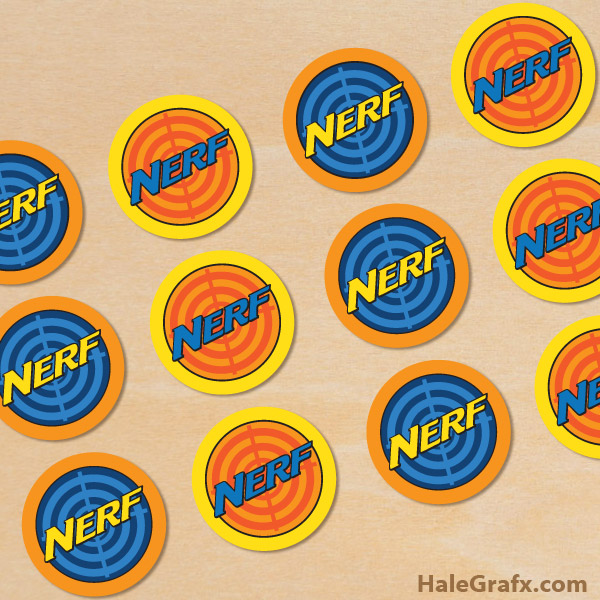 picture relating to Nerf Gun Targets Printable known as Cost-free Printable Nerf Cupcake Toppers