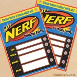 FREE Printable Nerf Birthday Invitation