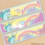 Free Printable Unicorn Water Bottle Labels