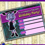 FREE Printable Disney Vampirina Birthday Invitation