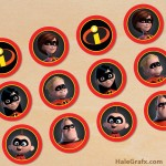 FREE Printable Incredibles Cupcake Toppers