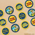 FREE Printable Magic School Bus Cupcake Toppers