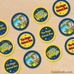 FREE Printable Magic School Bus Cupcake Toppers