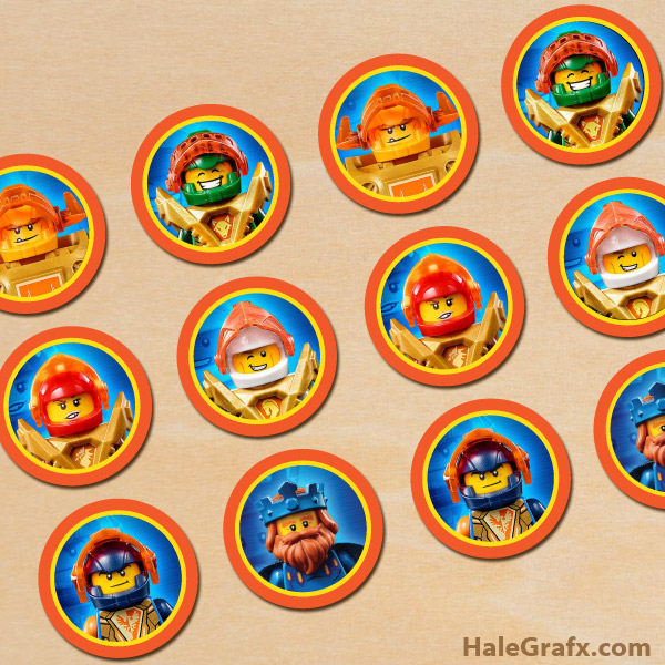 FREE Printable LEGO Nexo Knights Cupcake Toppers