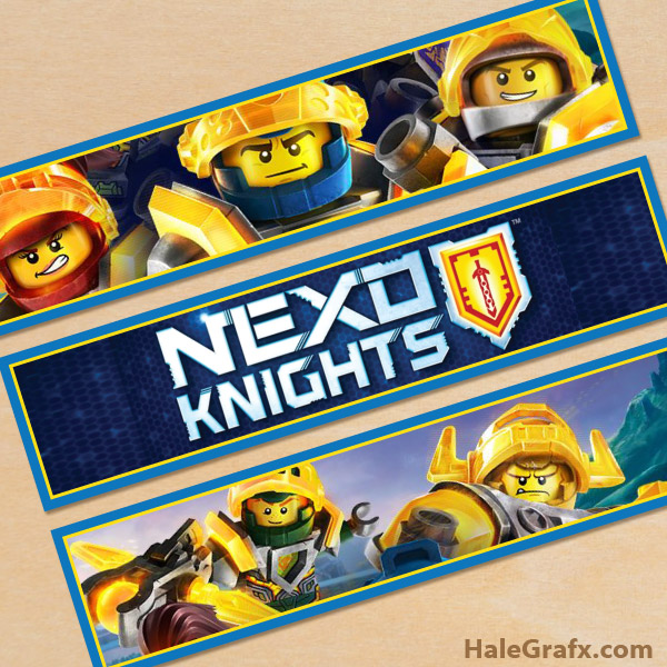 Free Printable LEGO Nexo Knights Water Bottle Labels
