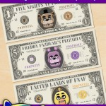 FREE Printable Five Nights at Freddy's Play Money