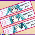 Free Printable Hatsune Miku Water Bottle Labels
