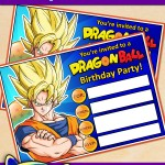 FREE Printable Dragon Ball Birthday Invitation