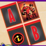 FREE Printable Incredibles Alphabet Banner Pack
