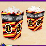FREE Printable Incredibles Popcorn Box