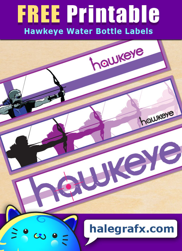Free Printable Hawkeye Water Bottle Labels