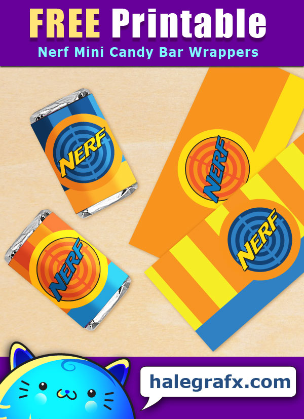 picture regarding Nerf Logo Printable titled Cost-free Printable Nerf Mini Sweet Bar Wrappers