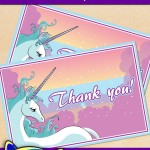 FREE Printable Unicorn Thank You Card