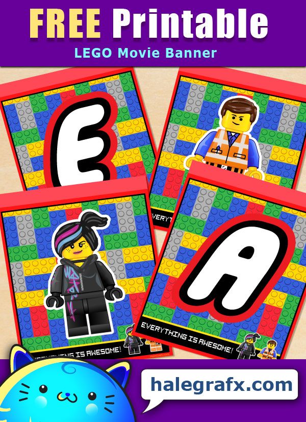photo regarding Lego Font Printable named Cost-free Printable LEGO Video Alphabet Banner Pack