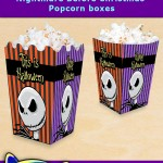 FREE Printable Nightmare before Christmas Popcorn Box