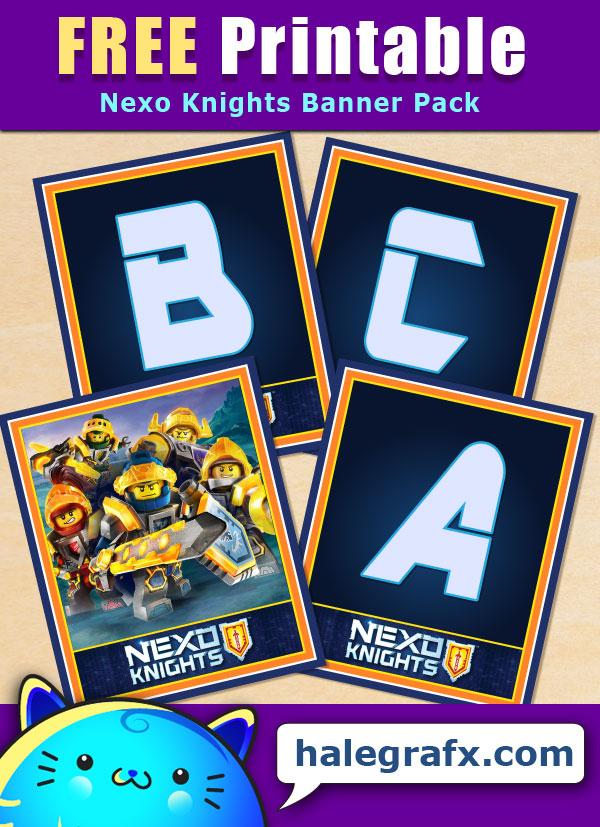 FREE Printable Nexo Knights Alphabet Banner Pack
