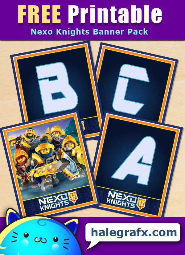 FREE Printable Nexo Knights Alphabet Banner Pack
