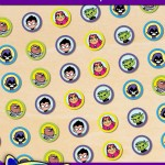 FREE Printable Teen Titans Go Hershey's Kisses Stickers