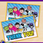 FREE Printable Teen Titans Go! Thank You Card