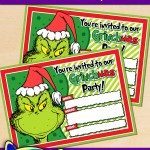 FREE Printable Grinch Christmas Party Invitation