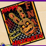 FREE Printable Halloween Five nights at freddy's Bonnie Poster