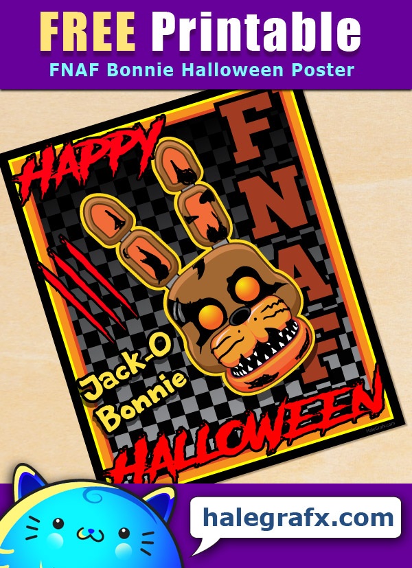 photograph relating to Give Me Five Poster Printable Free named Free of charge Printable Halloween 5 evenings at freddys Bonnie Poster