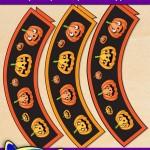 FREE Printable Halloween Goofy Pumpkin Cupcake Wrappers