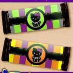 FREE Printable Halloween Hello Kitty Candy Bar Wrappers