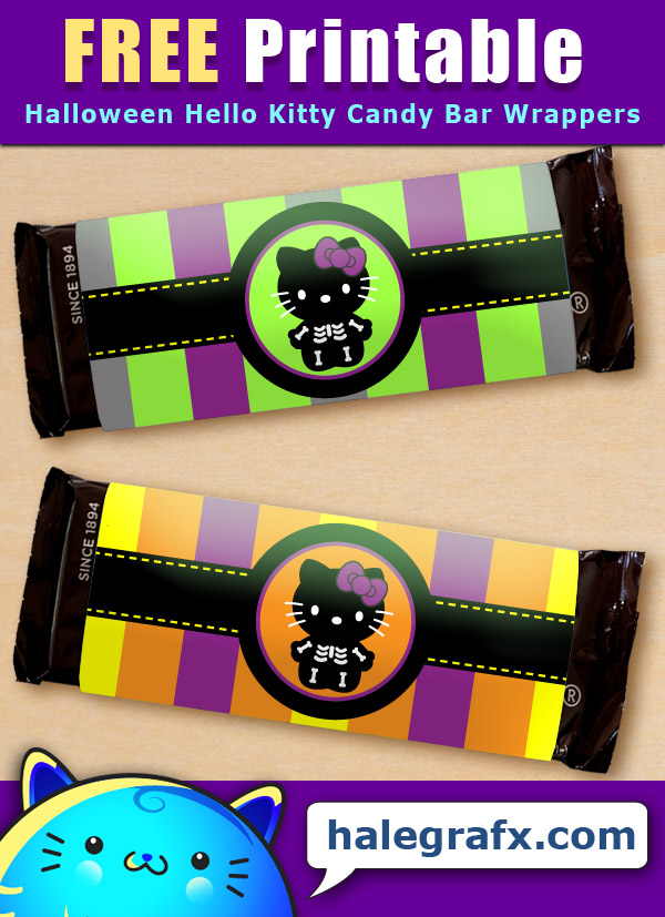FREE Printable Hello Kitty Candy Bar Wrappers